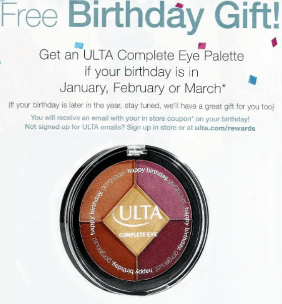 November 2017 Ulta Birthday Gift