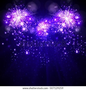 Happy New Year Background Fireworks Stock Vector  Royalty Free     Happy New Year background  fireworks