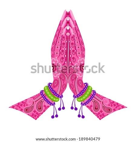 Easy Edit Vector Illustration Indian Hand Stock Vector ...