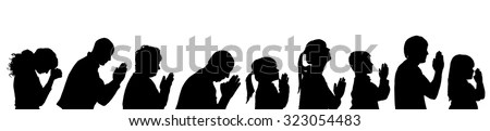 Family Praying Stock Images, Royalty-Free Images & Vectors ...