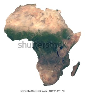 Hith Resolution Detailed Satellite Image Africa Stock Illustration     Hith resolution detailed satellite image of Africa  Physical map of Africa   Isolated african continent