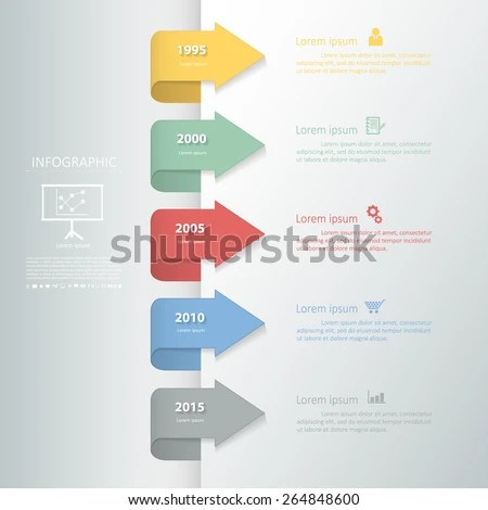 Timeline Template Business Design Reports Step Stock Vector     Timeline template for business design  reports  step presentation  number  options  progress