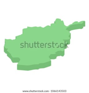 Afghanistan Isometric Map Asian Countries Stock Vector 1066143503     Afghanistan isometric map of Asian countries