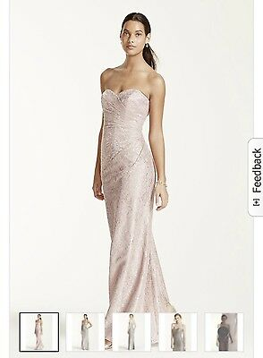 Davids bridal   Zeppy io Davids bridal rose gold bridesmaid dress