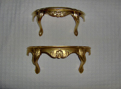 Vintage home interior   Zeppy io Pair vintage home interior florentine gold wall shelf shelves picture  accent  2