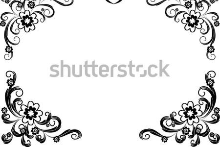Flower border black and white new artist 2018 new artist black and white floral border stock illustration illustration of black and white floral border border designs black and white ozil almanoof co border mightylinksfo