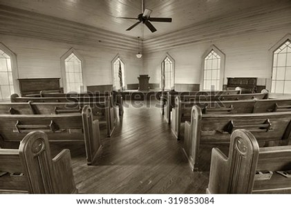 DOTHAN ALABAMA JANUARY 17 2015 Interior Stock Photo  Edit Now     DOTHAN  ALABAMA   JANUARY 17  2015   Interior of a historic church in the
