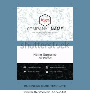 Modern Designer Business Card Layout Templates Stock Vector     Modern designer business card layout templates  Marble texture background   Easy to use by print