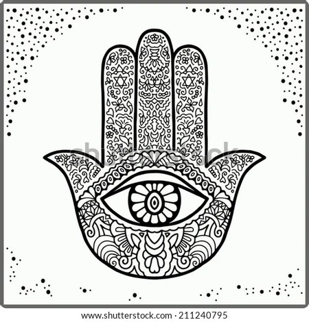 Hindu Hand Coloring Page Coloring Pages