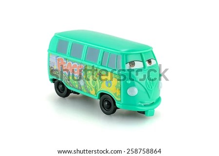 Bangkok Thailand March 1 2015 Fillmore 1960 Stock Photo  Royalty     Bangkok Thailand   March 1  2015  Fillmore 1960 Volkswagen bus toy  character from