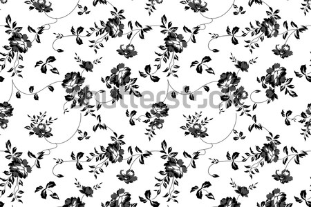Seamless Floral Pattern Stock Vector Illustration Of Continuous Download Vintage