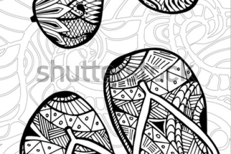 Flip Flop Coloring Pages Fresh Summer Free Printable Awesome Pinterest Photos