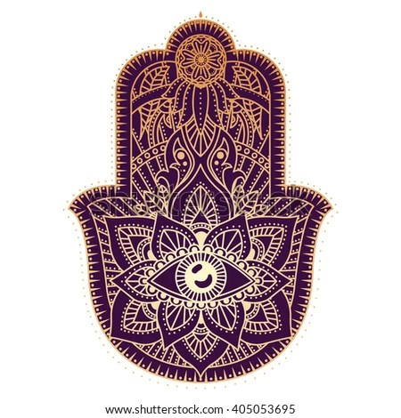 Vector Hamsa Hand Drawn Symbol Stock Vector 362431697 ...