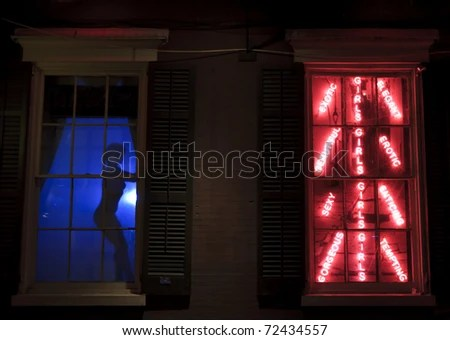 Bourbon Street Sign Neon French Quarter Stock Photo ...
