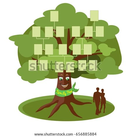 Family Tree Template Empty Frames Photos Stock Vector 656885884     Family tree template with empty frames for photos  Vector illustration