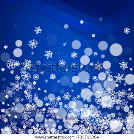 New Year Border White Snowflakes On Stock Vector 733716904     New Year border with white snowflakes on winter background  Merry Christmas  and Happy New Year