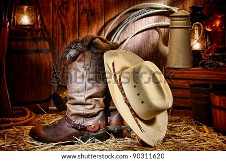 American West Rodeo Cowboy Traditional White Straw Hat On