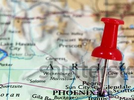 HD Decor Images » Map Pin Point Phoenix Arizona USA Stock Photo  Royalty Free     Map with pin point of Phoenix in Arizona  USA
