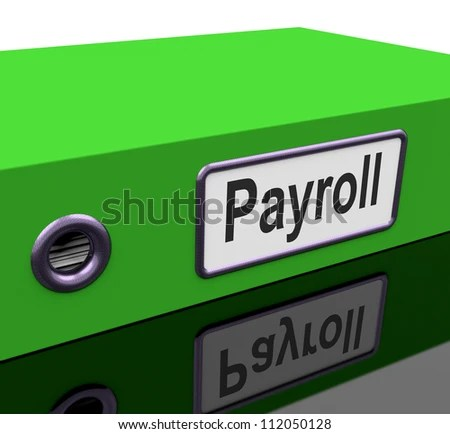 Payroll File Containing Employee Timesheet Records Stock     Payroll File Containing Employee Timesheet Records