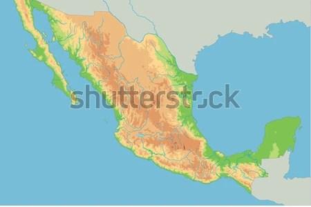 mexico physical map » ..:: Edi Maps ::.. | Full HD Maps