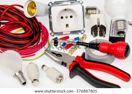 Electrician Tools Accessories White Background Stock Photo  Edit Now     electrician tools and accessories  white background