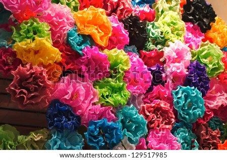 Mexican Paper Flowers Stock Photo  Royalty Free  129517985     Mexican Paper Flowers