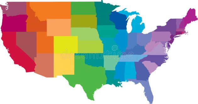 American states map stock vector  Illustration of vector   5771057 Download American states map stock vector  Illustration of vector   5771057