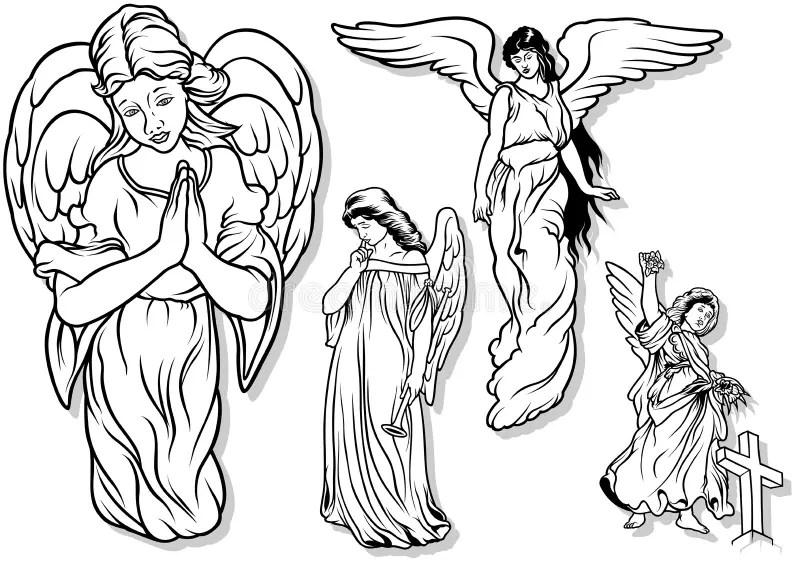 Angel Set stock vector. Illustration of religious ...