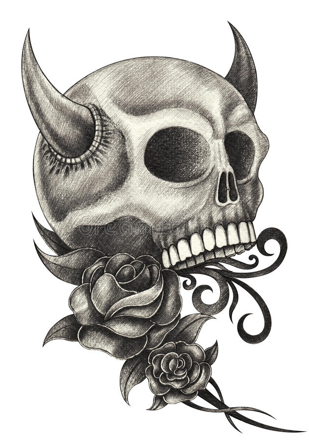 Draw Devil Skull Cool Drawings