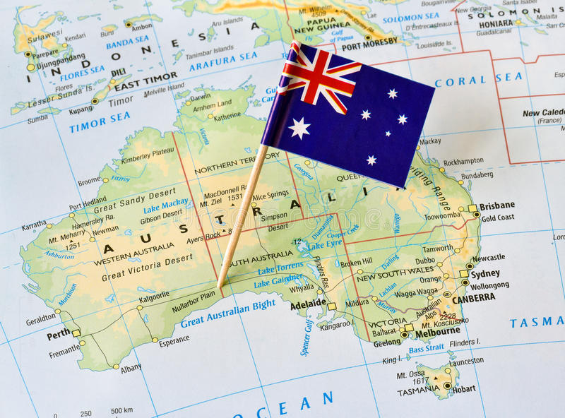 Australia map flag pin stock image  Image of detailed   58659649 Download Australia map flag pin stock image  Image of detailed   58659649
