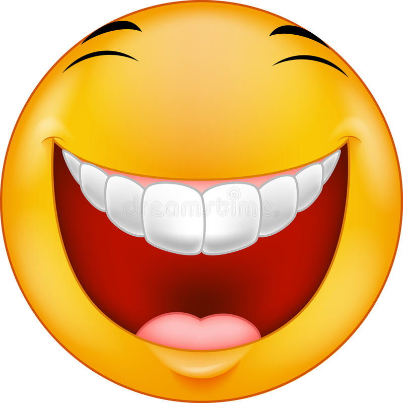 Cartoon Laughing smiley stock vector. Illustration of ...