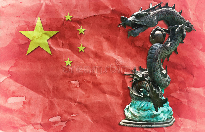 Dragon Chinese Flag Ancient