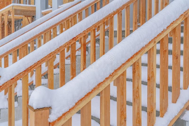 Close Up Of The Outdoor Stairs Of A Home In Daybreak Utah | Outdoor Stair Treads For Winter