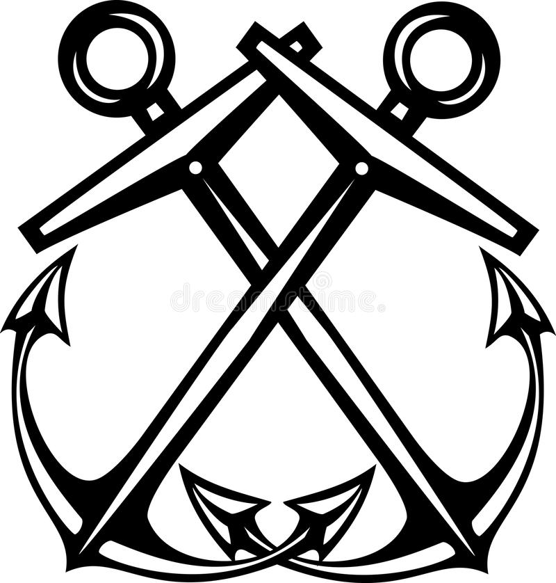 Crossed Anchors Boatswains Mate