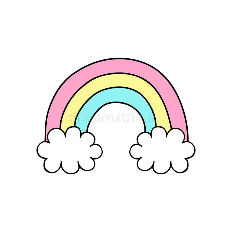 Cute Easy Drawings Rainbow Clouds