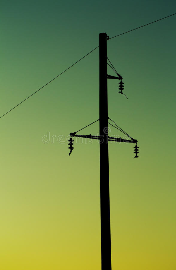 Electric Post Stock Image Image Of Construction Back