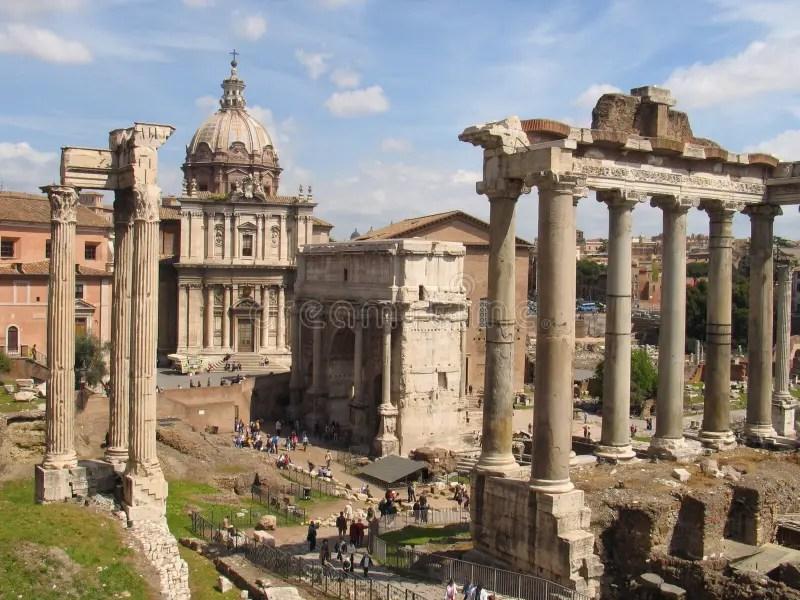 The Forum Romanum stock photo. Image of archaeology, roman ...