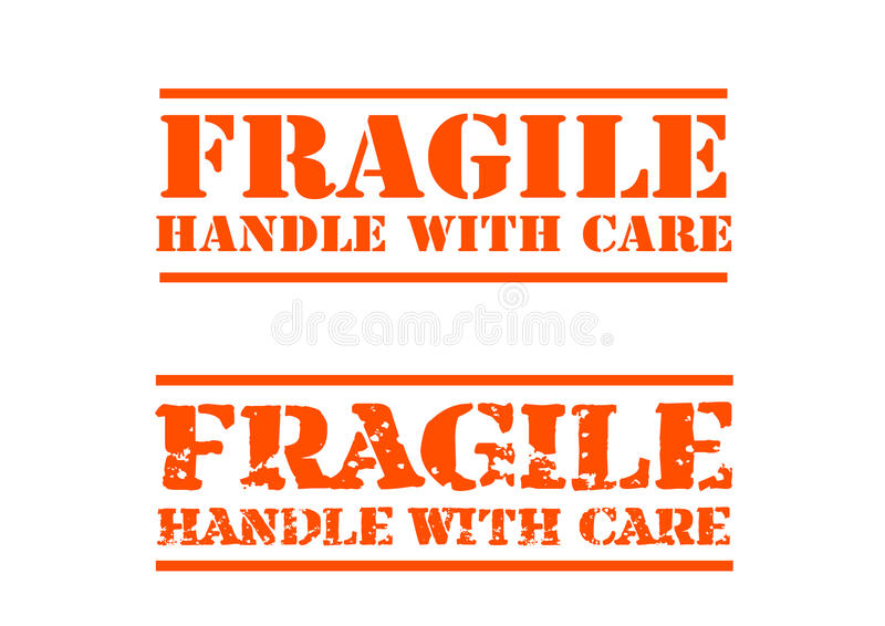 Fragile handle with Care stock vector. Illustration of ...