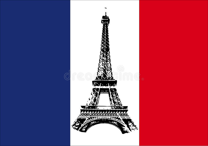France Country Flag Map