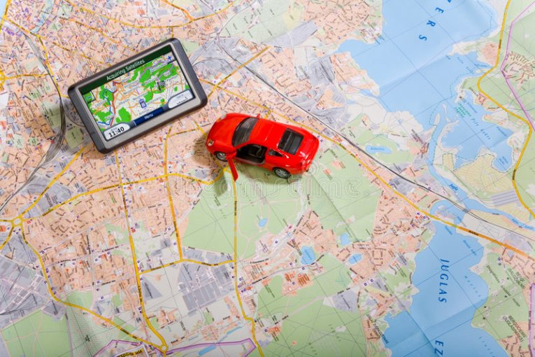 GPS Navigation System On A Traveling Map Stock Photo   Image of     Download GPS Navigation System On A Traveling Map Stock Photo   Image of  computer  search