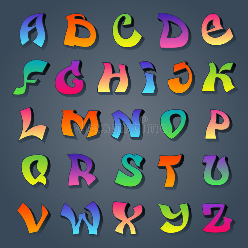 Cool Alphabet Graffiti Letters Style