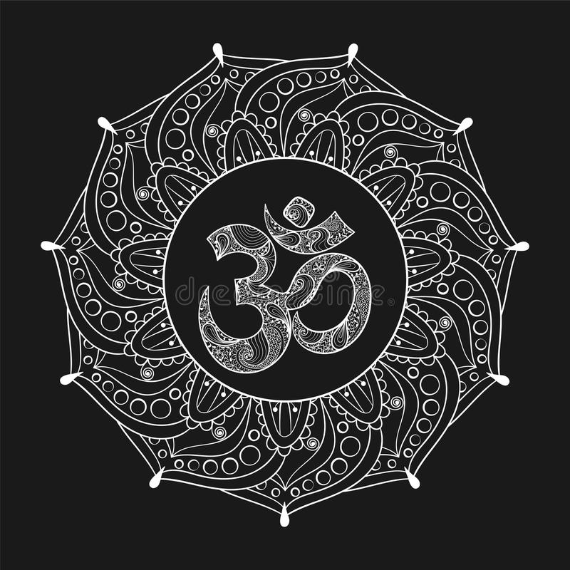 Hand Drawn Ohm Symbol, Indian Diwali Spiritual Sign Om ...