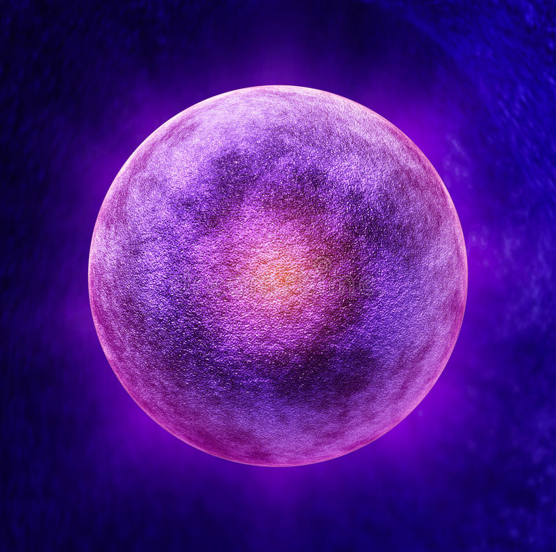 Human Egg Cell stock illustration. Image of medicine ...