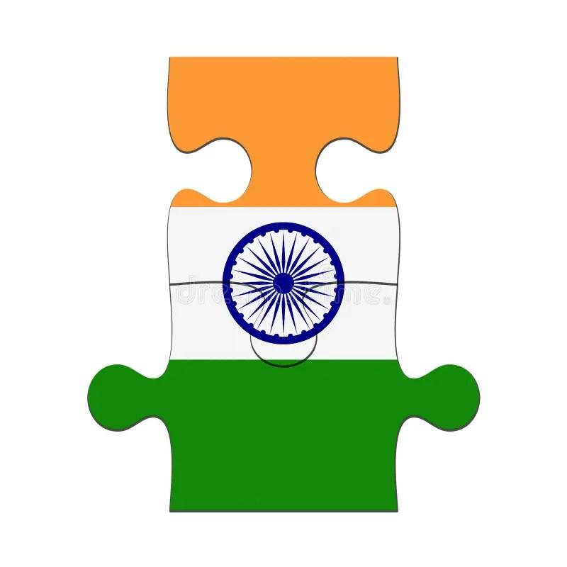 Indian Economy Jigsaw Pieces Stock Illustration ...