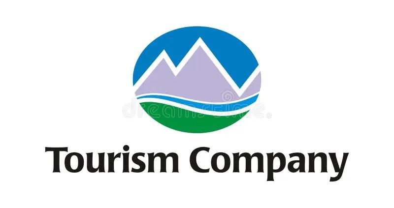 Logo Tourism Travel Company Royalty Free Stock Images