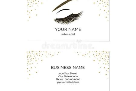 Makeup Artist Business Card Vector Template Stock Vector     Makeup artist business card template