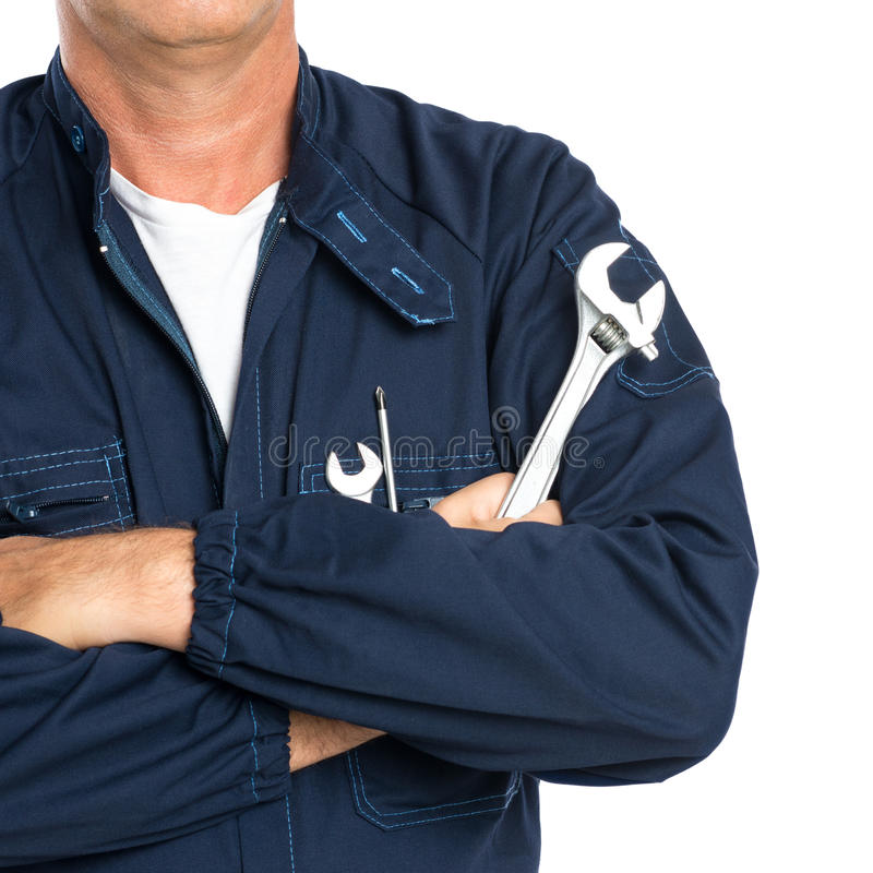 Mechanic With Spanner Stock Photo Image 46386370