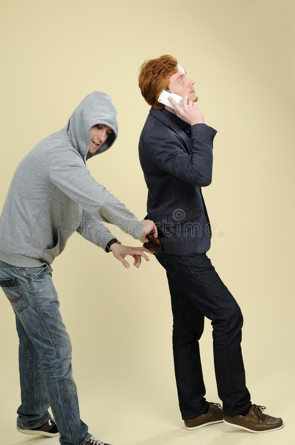 Robber Stealing Wallet Stock Photo Image Of Wallet