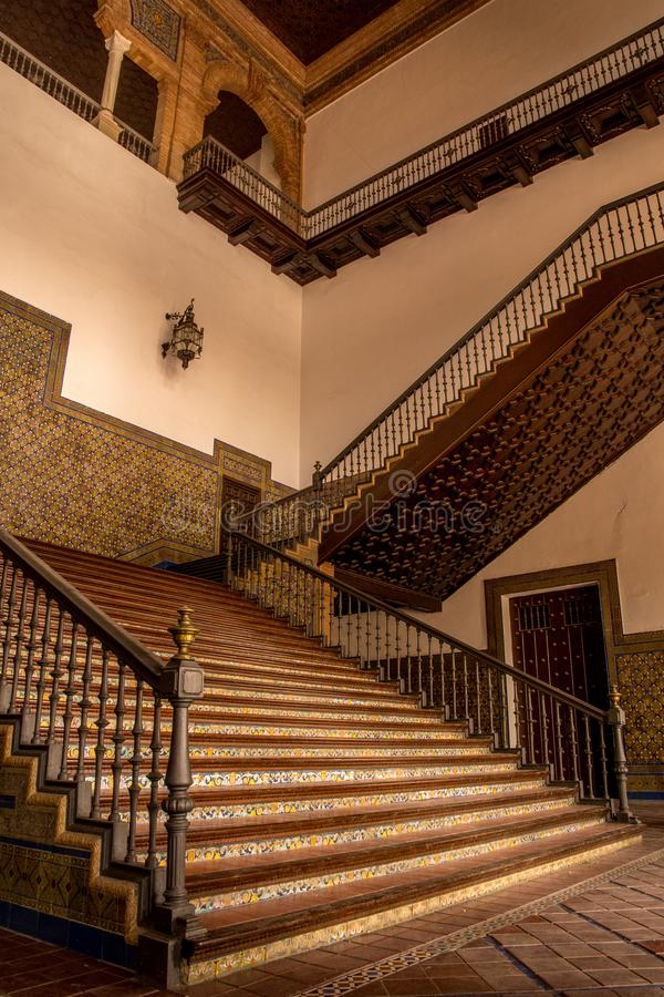 SEVILLE  ANDALUSIA   SPAIN   OCTOBER 13 2017  INTERIOR STAIRCASE     Download SEVILLE  ANDALUSIA   SPAIN   OCTOBER 13 2017  INTERIOR STAIRCASE  Editorial Image