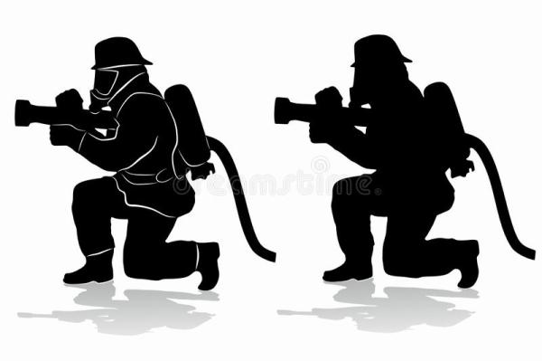 fireman silhouette clip art # 2